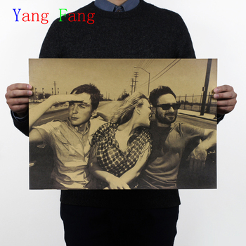 51x35 cm Vintage Ünlü Big Bang Theory TBBT TV Serisi film Afiş Retro Kraft Kağıt Bar Cafe Ev Dekor Duvar Sticker
