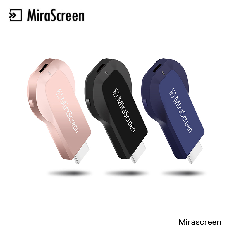 Mirascreen Reseptör de TV Ürün Dongle Akıllı TV HD 1080 P Video Displayer DLNA Airplay Miracast Airmirroring